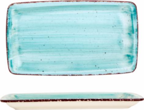 Platou dreptunghiular Gural colectia Turquoise 24x14cm de la Basarom Com