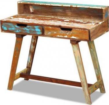 Birou din lemn reciclat de esenta tare de la Vidaxl