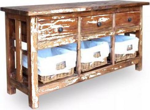 Bufet din lemn masiv reciclat, 100 x 30 x 50 cm de la Vidaxl