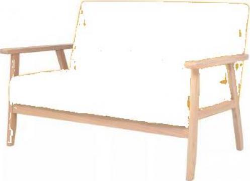 Canapea pentru 2 persoane, material textil, galben de la Vidaxl