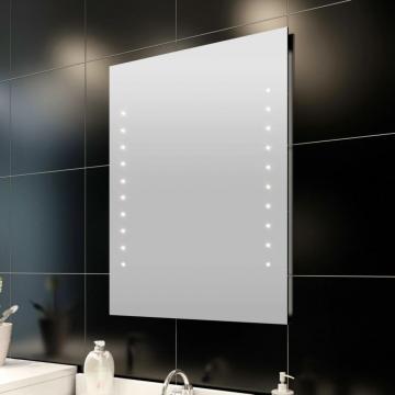 Oglinda de baie cu lumina LED 50 x 60 cm