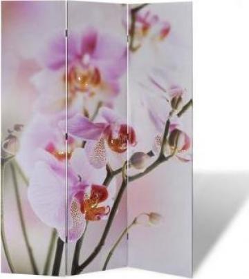 Paravan despartitor cu imprimeu floral, 120 x 180