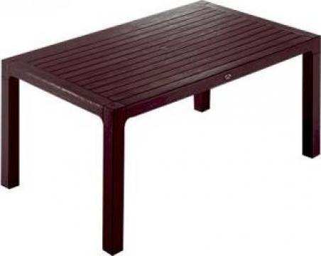 Masa Classi Wood 90x150x75cm culoare cafea de la Basarom Com