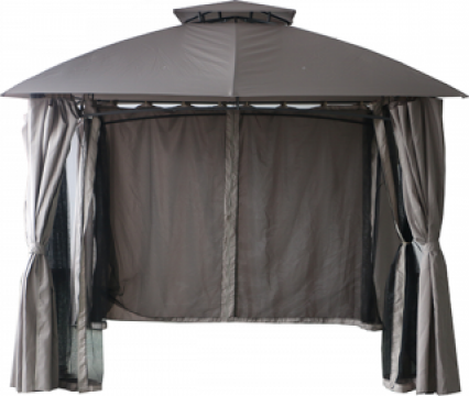 Pavilion, cort gradina Raki 3x3m cadru metalic cu pereti de la Basarom Com