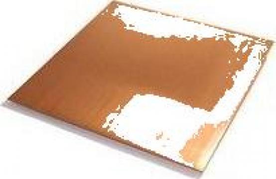 Tabla cupru 0.4x250x250mm min. 99.9%Cu