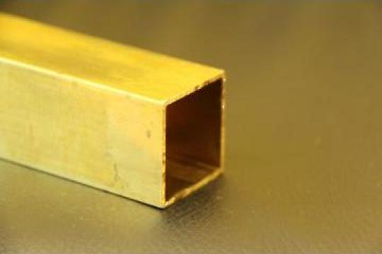 Teava alama patrata 40x40x1.5x1000mm CW508L CuZn37 de la MRG Stainless Group Srl