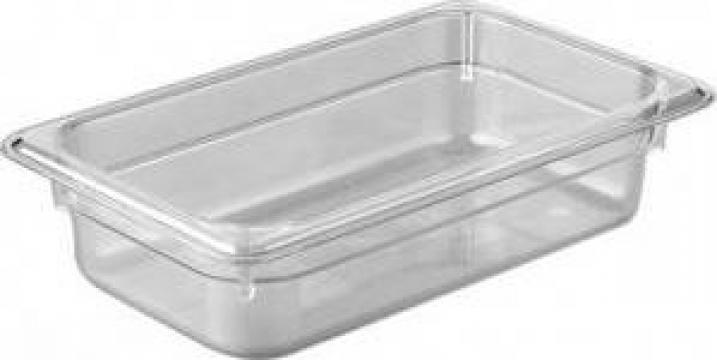 Tava gastronorm policarbonat 1/4-150 3,7litri transparent de la Basarom Com