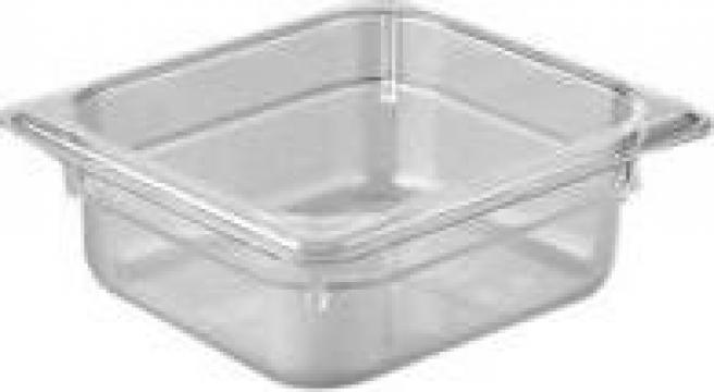 Tava gastronorm policarbonat 1/6-65 1litru transparent de la Basarom Com