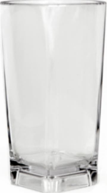 Pahar patrat policarbonat 372ml de la Basarom Com