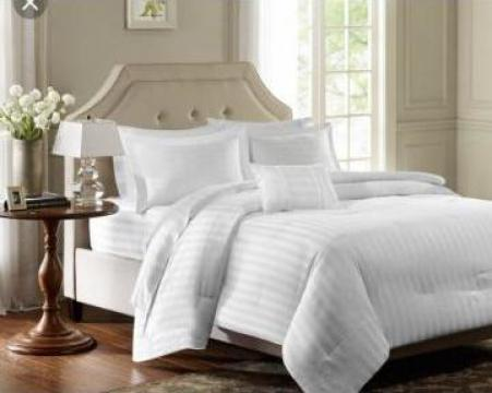 Lenjerie de pat pentru spitale Damasc de la Sc Atelier Blue Srl