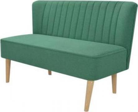 Canapea cu material textil, 117 x 55,5 x 77 cm, verde de la Vidaxl
