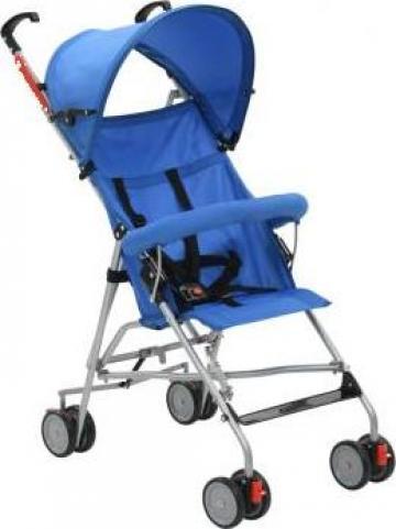 Carucior copii pliabil, albastru, otel