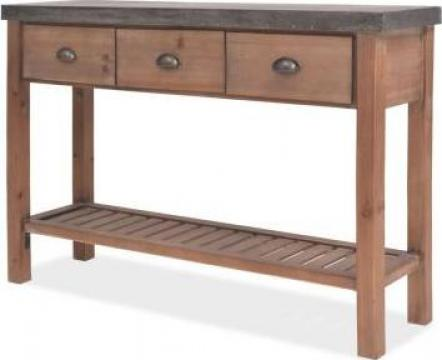Masa consola lemn masiv de brad 122 x 35 x 80 cm de la Vidaxl