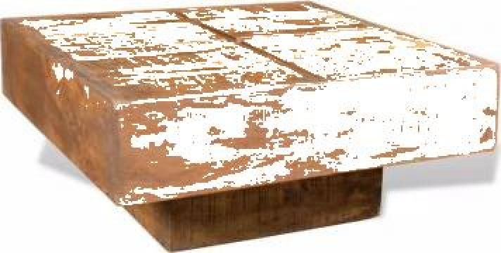 Masuta de cafea patrata, maro, lemn masiv de mango de la Vidaxl