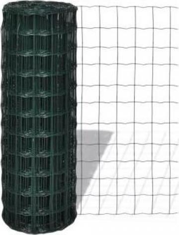 Gard cu plasa din otel, 25 x 1,7 m cu 76 x 63 mm