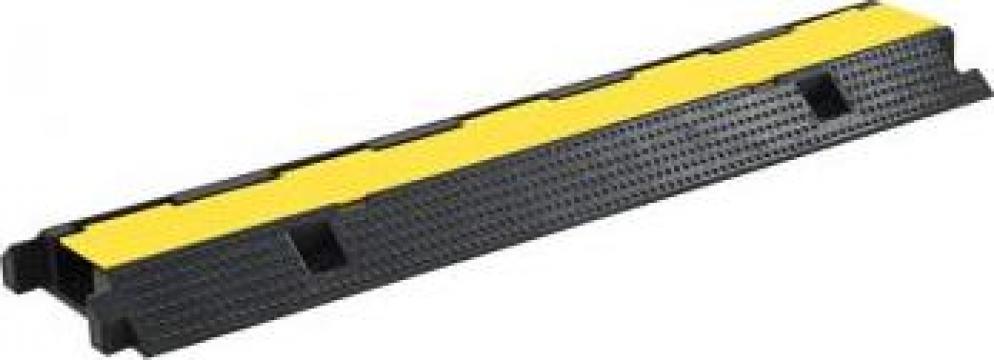 Rampa de protectie cabluri, 1 canal, cauciuc 100 cm de la Vidaxl