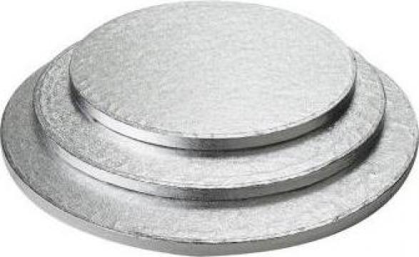 Platforma argintie tort Ø26xh1,2cm de la Cristian Food Industry Srl.