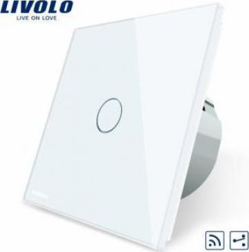 Intrerupator touch simplu RF cap-scara / cruce Livolo de la Konstructhor All SRL