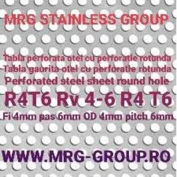 Tabla perforata otel 1x1000x2000 gauri rotunde R4T6 de la MRG Stainless Group Srl