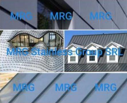 Tabla zinc 0.7x1000x2000mm foaie TiZn titan-zinc 99.9% Zn Ti de la MRG Stainless Group Srl