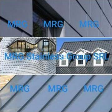 Tabla zinc TiZn 0.5x1000x2000mm, coala TiZn de la MRG Stainless Group Srl