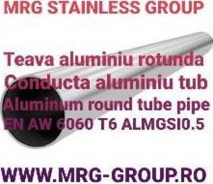 Teava aluminiu rotunda 76x1.6mm, conducta tub aluminiu, inox