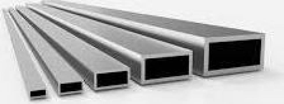 Teava aluminiu rectangulara 25x15x1.5mm de la MRG Stainless Group Srl