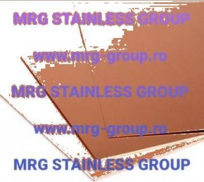 Tabla cupru 0.7x1000x2000 CuDHP min 99.9%Cu SF-Cu arama inox de la MRG Stainless Group Srl