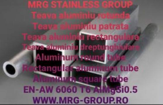 Teava aluminiu rotunda 50x2mm tevi EN-AW 6060 AlMgSi0.5 inox de la MRG Stainless Group Srl