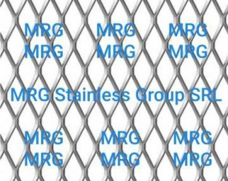 Tabla aluminiu expandata 28x13mm de la MRG Stainless Group Srl