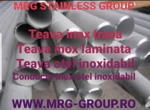 Teava inox trasa 21.3x2.6mm laminata bara gaurita inoxidabil de la MRG Stainless Group Srl