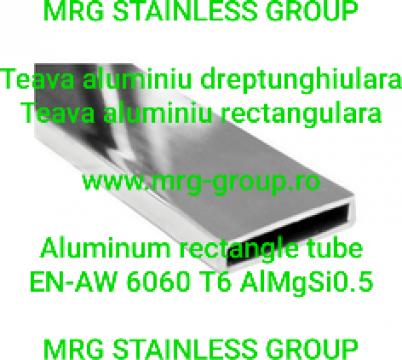 Teava aluminiu rectangulara 100x30x2mm AlMgSi0.5 AW 6060 T6