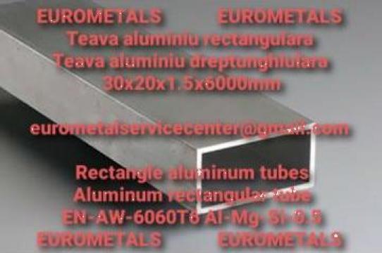 Teava aluminiu rectangulara 30x20x2mm