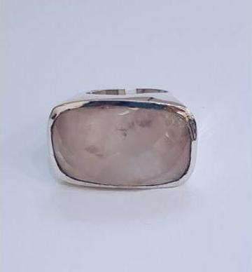 Inel de argint quartz roz de la Dixi Bijou Srl