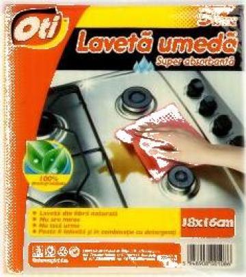Lavete umede Oti 16x18cm 3 buc/set de la Cristian Food Industry Srl.