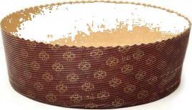 Forma din carton pentru copt pasca P170/55 de la Cristian Food Industry Srl.