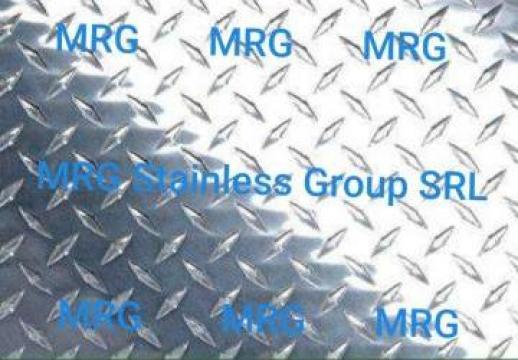 Tabla aluminiu striata antiderapanta Diamond 1.5x1000x2000mm de la MRG Stainless Group Srl
