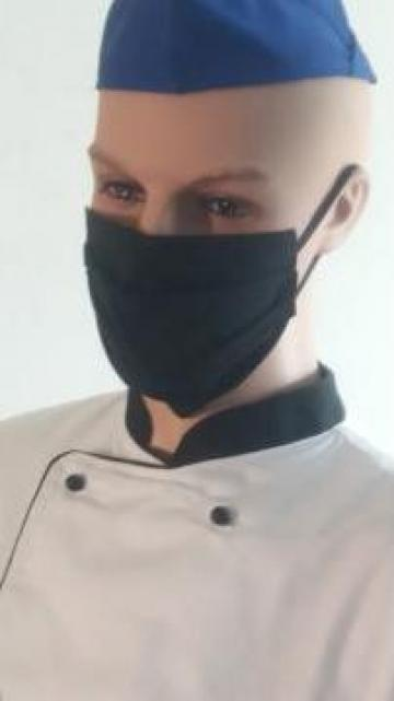 Masca neagra de protectie chirurgicala bumbac de la Johnny Srl.