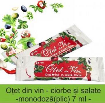Otet din vin ambalat pentru salate / ciorbe la 7 ml de la Up 2003 Food Srl