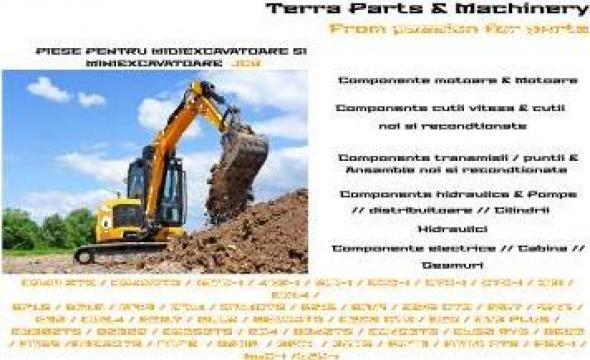 Piese miniexcavatoare JCB de la Terra Parts & Machinery Srl