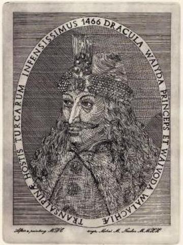 Gravura 35x25 Vlad Tepes - Dracula, aquaforte