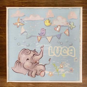 Tablou canvas personalizat, Elefantelul vesel de la Simonne
