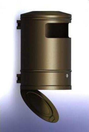 Cos gunoi DS-30 cu fixare pe stalp de la Eurostart Srl