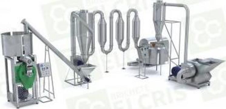 Linie de brichetare PK 450 kg/h cu sistem complex de tocare de la Brichete Elcris Srl