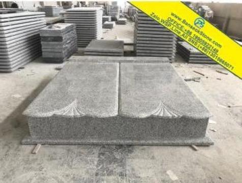 Monumente funerare G603 granit alb, monumente, cruci de la Banseokstone Co.,ltd