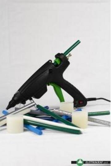Pistol de lipit cu adeziv hot melt E180 de la Elettrograf Srl