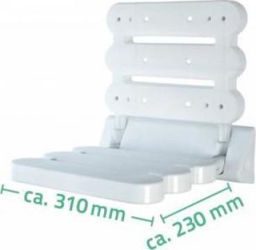 Scaun pliabil pentru dus Ridder (sustine max 130 kg) de la Davo Pro Company Srl