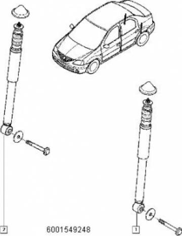 Amortizor spate MCV, Van, Pick-up