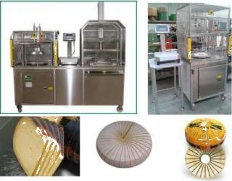 Masina de portionat branzeturi sub forma de roti gramaj fix de la PFA Nemes Claudiu Calin