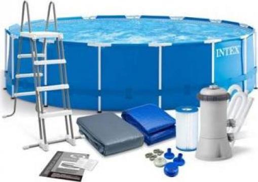 Set piscina Intex Metal Frame 457 x 122 cm